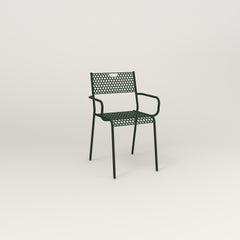 RAD Signature Arm Chair in perforated steel and fir green powder coat.