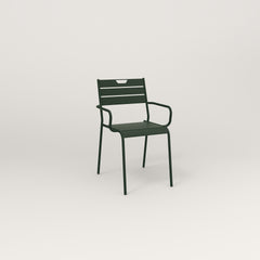 RAD Signature Arm Chair Slatted Steel in fir green powder coat.