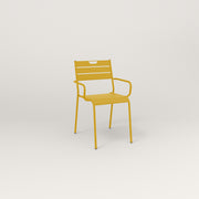 RAD Signature Arm Chair Slatted Steel in yellow powder coat.