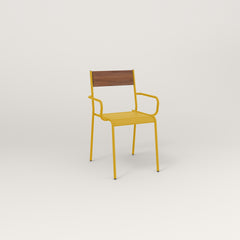 RAD Signature Arm Chair in slatted wood and yellow powder coat.
