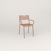 RAD Signature Arm Chair in perforated steel and coral powder coat.