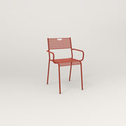 RAD Signature Arm Chair in perforated steel and red powder coat.