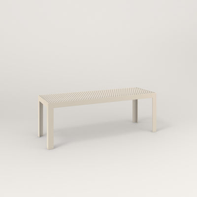 RAD Signature Bench in perforated steel and off-white powder coat.