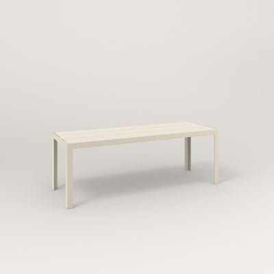 RAD Signature Bench Slatted Steel in off-white powder coat.