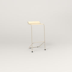 RAD Signature Bar Stool in solid ash and off-white powder coat.