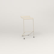 RAD Signature Bar Stool Slatted Steel in off-white powder coat.