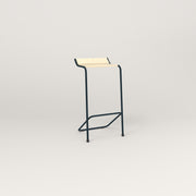 RAD Signature Bar Stool in solid ash and navy powder coat.