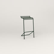 RAD Signature Bar Stool in perforated steel and fir green powder coat.