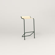 RAD Signature Bar Stool in solid ash and fir green powder coat.
