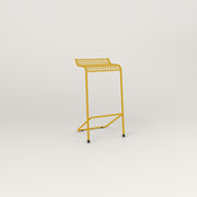 RAD Signature Bar Stool in perforated steel and yellow powder coat.