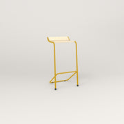 RAD Signature Bar Stool in solid ash and yellow powder coat.