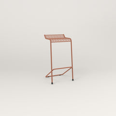 RAD Signature Bar Stool in perforated steel and coral powder coat.