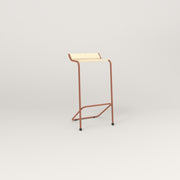 RAD Signature Bar Stool in solid ash and coral powder coat.
