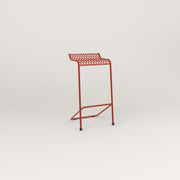 RAD Signature Bar Stool in perforated steel and red powder coat.