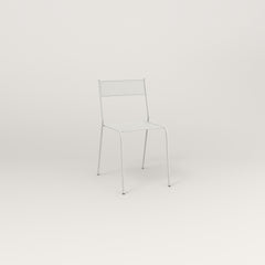 RAD Signature Cafe Chair in perforated steel and white powder coat.