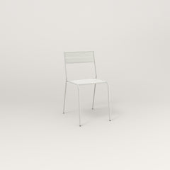 RAD Signature Cafe Chair Slatted Steel in white powder coat.