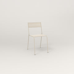 RAD Signature Cafe Chair Slatted Steel in off-white powder coat.
