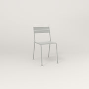 RAD Signature Cafe Chair Slatted Steel in grey powder coat.