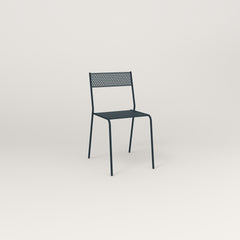RAD Signature Cafe Chair in perforated steel and navy powder coat.