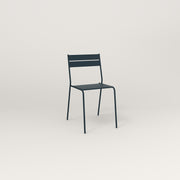 RAD Signature Cafe Chair Slatted Steel in navy powder coat.