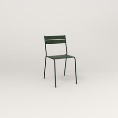 RAD Signature Cafe Chair Slatted Steel in fir green powder coat.