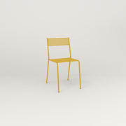 RAD Signature Cafe Chair in perforated steel and yellow powder coat.
