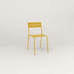 RAD Signature Cafe Chair Slatted Steel in yellow powder coat.