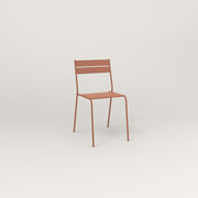 RAD Signature Cafe Chair Slatted Steel in coral powder coat.