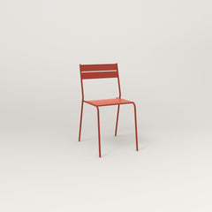 RAD Signature Cafe Chair Slatted Steel in red powder coat.