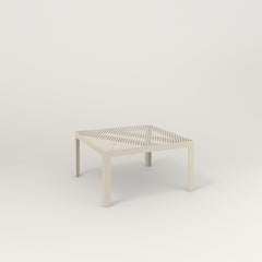 RAD Signature Coffee Table in perforated steel and off-white powder coat.