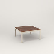 RAD Signature Coffee Table in slatted wood and off-white powder coat.