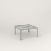 RAD Signature Coffee Table in perforated steel and grey powder coat.