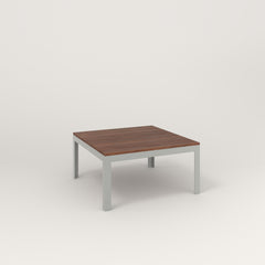 RAD Signature Coffee Table in slatted wood and grey powder coat.