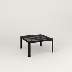 RAD Signature Coffee Table in perforated steel and black powder coat.