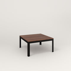 RAD Signature Coffee Table in slatted wood and black powder coat.