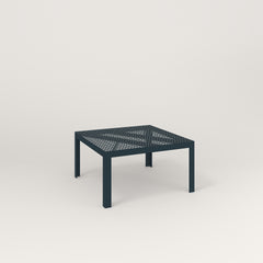 RAD Signature Coffee Table in perforated steel and navy powder coat.
