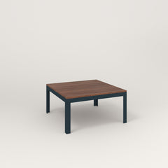 RAD Signature Coffee Table in slatted wood and navy powder coat.