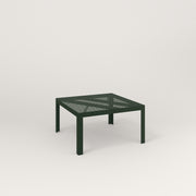 RAD Signature Coffee Table in perforated steel and fir green powder coat.