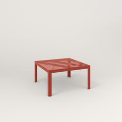 RAD Signature Coffee Table in perforated steel and red powder coat.