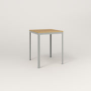 RAD Signature Square Cafe Table, Wood Veneer in grey powder coat.