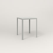 RAD Signature Square Cafe Table, Slatted Steel in grey powder coat.