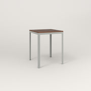 RAD Signature Square Cafe Table, in slatted wood and grey powder coat.