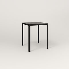 RAD Signature Square Cafe Table, Slatted Steel in black powder coat.