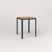 RAD Signature Square Cafe Table, Wood Veneer in navy powder coat.