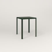 RAD Signature Square Cafe Table, in perforated steel and fir green powder coat.