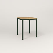 RAD Signature Square Cafe Table, Wood Veneer in fir green powder coat.