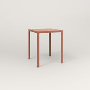 RAD Signature Square Cafe Table, Slatted Steel in coral powder coat.