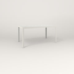 RAD Signature Table in perforated steel and white powder coat.
