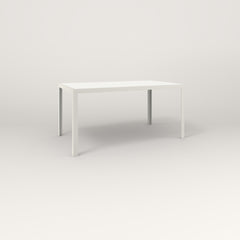 RAD Signature Table Slatted Steel Dining in white powder coat.