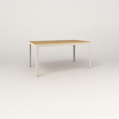 RAD Signature Table in solid white oak and off-white powder coat.